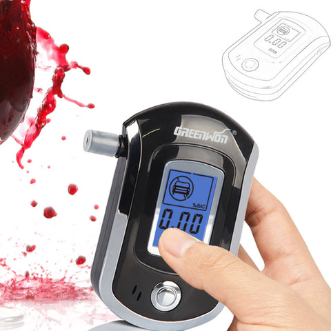 2014 NEW Hot selling Professional Police Digital Breath Alcohol Tester Breathalyzer AT6000 Free shipping Dropshipping