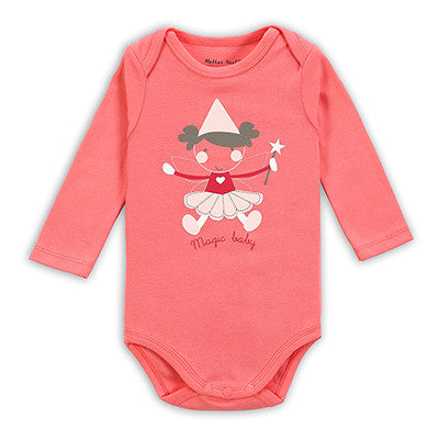 2015 New Autumn Baby Clothing Long Sleeve Cotton Baby Rompers Girls Boys Clothes Infantil Costumes Kids Jumpsuit