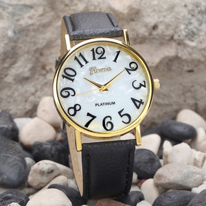 2015 Drop Shipping Luxury Brand Watches Men Women Relogio Masculino Retro GENEVA Leather Band Quartz Analog Wristwatch Clocks
