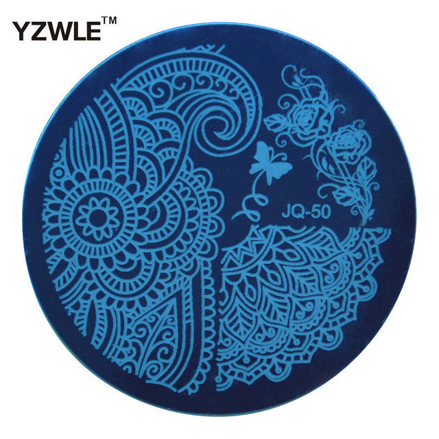 2015 Hot Sale Nail Art Stainless Steel Plate Image Stamp Stamping Plates DIY Manicure Template Nail Polish Tools (JQ-50)