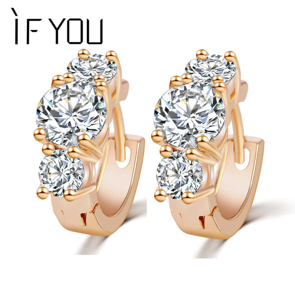 2015 New Arrival Brand Trendy Elegant Charm Gold Color Silver Color Romantic Austria Crystal Stud Earrings Weddings Jewelry PT31