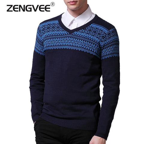 2015 New Autumn & Winter Top Quality Plaid O-neck Pullover Men Slim Fit Sweater Men Pull Homme Sudaderas Mens Sweaters 4 Colors