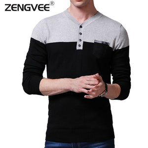 2015 New Autumn Fashion Brand Casual Sweater V-Neck Striped Slim Fit Knitting Mens Sweaters And Pullovers Men Pullover Men