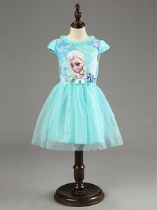 2015 New Elsa Anna Dress Girls Dress Cosplay Party Dresses Princess Children Baby Kids Baby Vestidos toddler Dresses