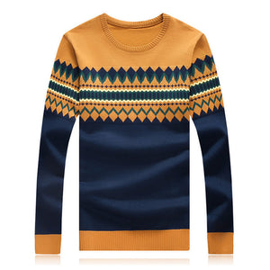 2015 New Fashion Autumn Mens Sweaters High Quality Christmas Sweater Dress Cusual Male Pullovers Bodycon Homme Vestidos Hot Sale