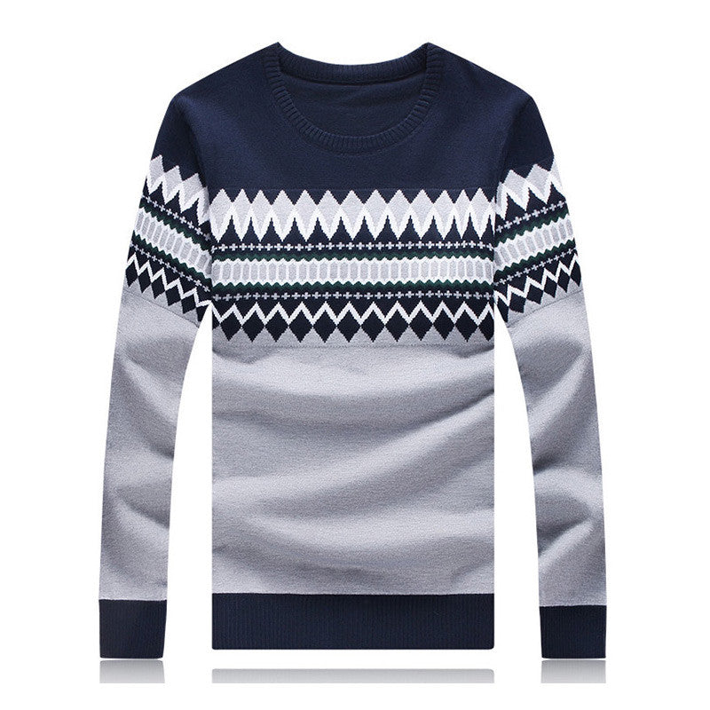 Mens Christmas Sweater.2015 New Fashion Autumn Mens Sweaters High Quality Christmas Sweater Dress Cusual Male Pullovers Bodycon Homme Vestidos Hot Sale