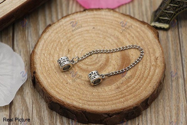 2015 New Free Shipping European Silver Daisy Safety Chain Beads Diy Bead Charms Fit Pandora Bracelets & Bangles