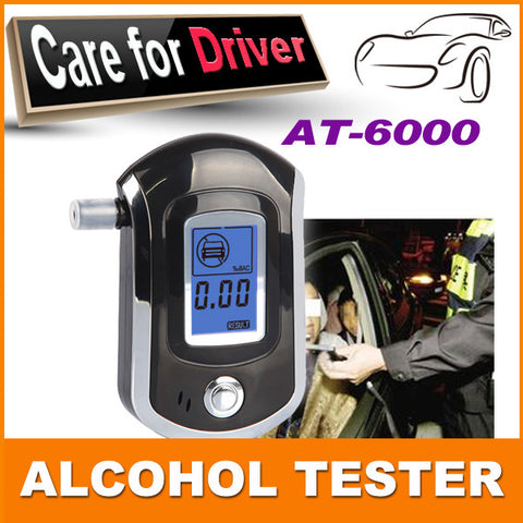 2015 NEW Hot selling Professional Police Digital Breath Alcohol Tester Breathalyzer AT6000 Free shipping Dropshipping
