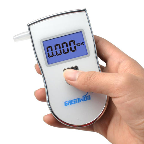 2015 new patent portable digital mini breath alcohol tester wholesales a breathalyzer test with 5 mouthpiece AT818 Free shipping