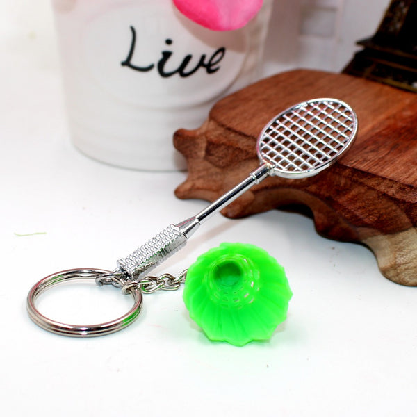 2016 1pcs fashion badminton keychain key chain ring keychain creative birthday gift toy Metal Model collection set