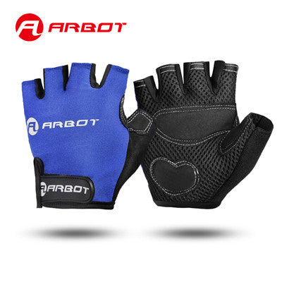 2016 Bike Gloves Half Finger Cycling Gloves MTB Bicycle Spring Off Road Motocross Gloves Guantes Ciclismo M-XL Black Blue