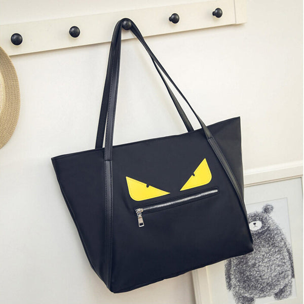 Excelsior Cartoon Printing Character Nylon Handbags Women G0545