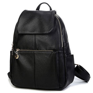Antbook Solid Pu Backpacks Women 1696