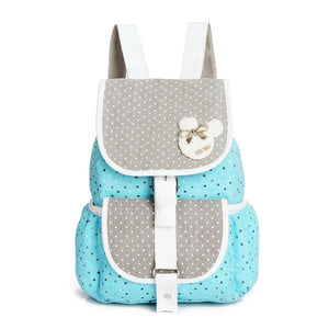 2016 Canvas Backpacks Polka Dot Printing Women School Backpacks for Teenage Girls Student School Bags Bolsas Mochilas Femininas