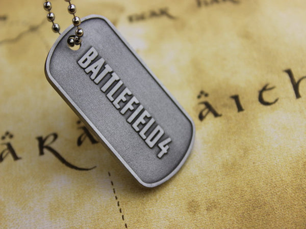2016 Men Jewelry BF4 Battlefield 4 Dog Tag Military card Pendant Necklace Free Shipping Wholesale
