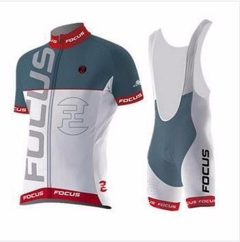 2016 Men's Summer Bike Cycling Jersey Set Focus Breathable Sport Jerseys Bib Set Comfort Polyester Short Sleeve Cycling Clothing