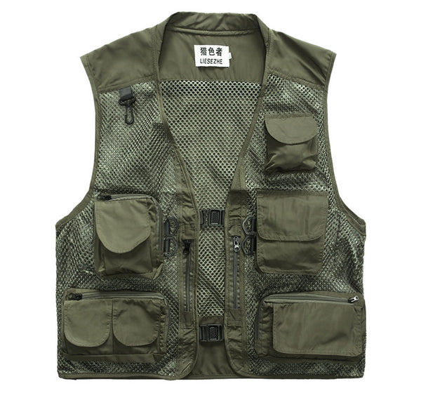 2016 Military Tactical Vest Men Outdoors Travels Vests Sport Mesh Photographer Vests Fishing Hunting Waistcoat with Many Pocket
