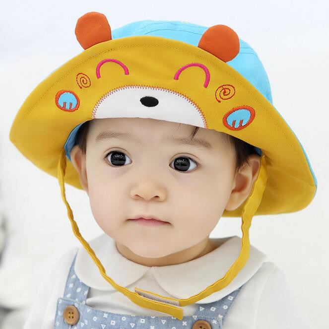... 2016 New Arrival Baby Sun Hat Cap Child Photography Prop Spring Summer  Outdoor Wide Brim Kids ... 26ee5b87d569