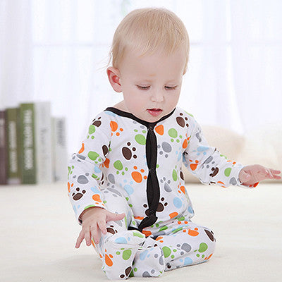 2016 New Arrival Fashion Baby Rompers For Autumn Spring Cotton Long Sleeves One Piece Children Kids Jumpsuit 0-12M Baby Clothing
