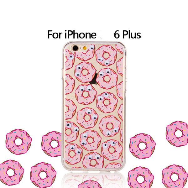 "2016 New Arrival Special Offer Anti-knock Pu Banana Fries Donuts Popcorn For Iphone 6 Case 4.7 ""for Plus 5.5"" For Apple 6s"