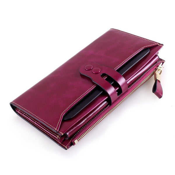 Itslife Solid Genuine Leather Wallet Women 6581