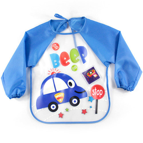 2016 New Baby long sleeve smock bibs apron waterproof Cartoon Feeding bebes baberos bavoir newbron baby clothing Saliva Towel