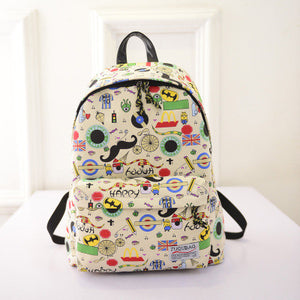 2016 New Canvas Printing Backpacks Women Backpacks School Bags for Girls Schoolbag Student Book Bag Bolsas Mochilas Femininas