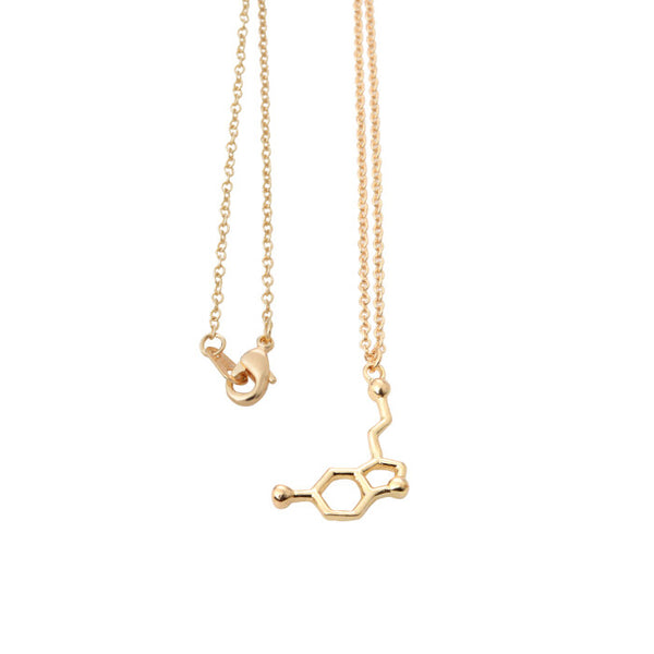 2016 New Chemical Symbol Long Necklace Dopamine Serotonin and Acetylcholine Necklaces for Women EY-N139