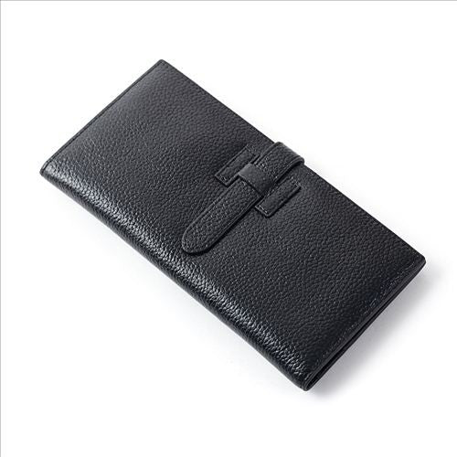 Jinbaolai Solid Genuine Leather Wallet Women Nf-wl173
