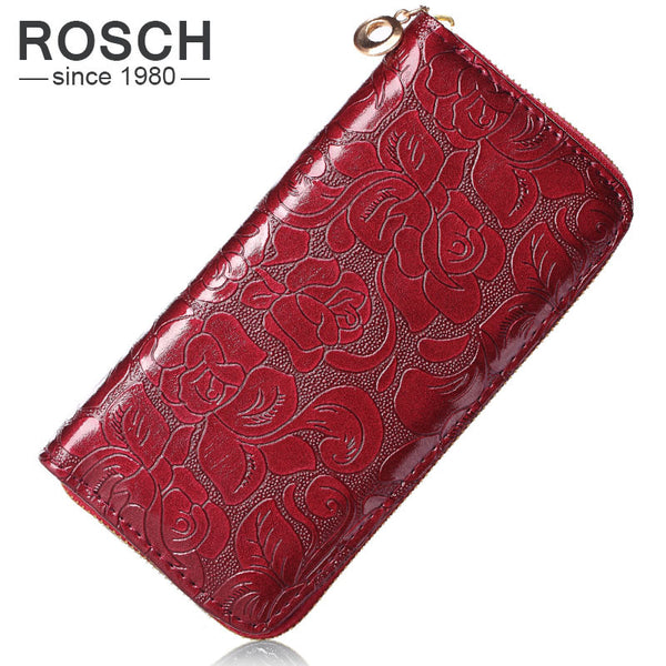 Rosch Floral Pu Wallet Women W0001-red