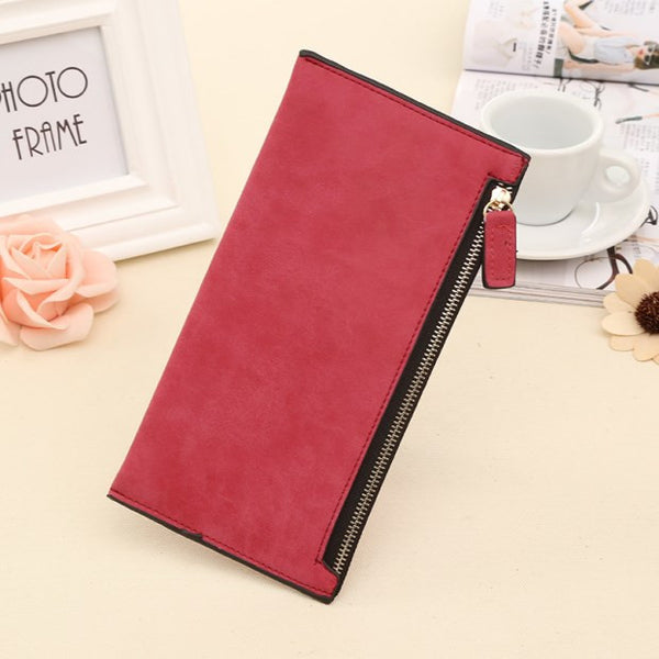 Ougold Solid Pu Wallet Women 000123a