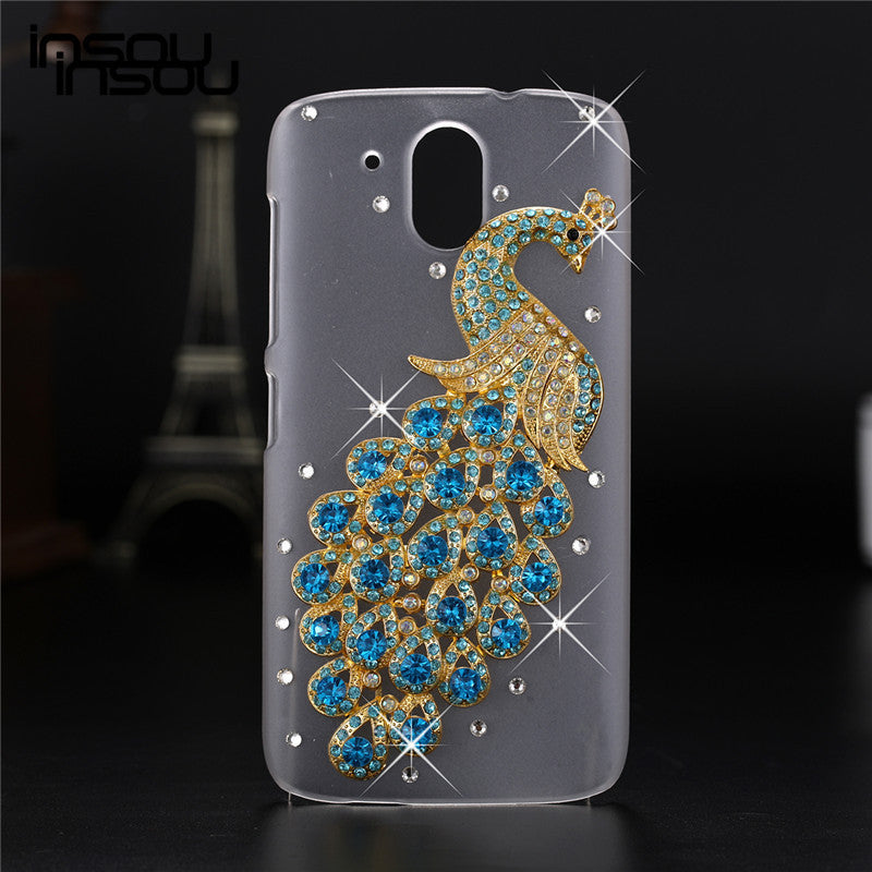 newest fe2a1 751fb 2016 New Luxury 3D case For HTC Desire 526 526G 526G+ 326 326G Crystal  Bling Case Rhinestone Cover Case For HTC Desire 526