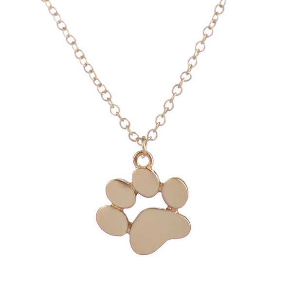 2016 New Necklace Tassut Cat Dog Paw Print Animal Necklace Women Pendant Long Cute Delicate Statement Necklace Party Gift XL191