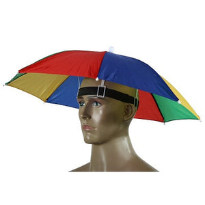 199591ad 2016 New Product Usefull 2 Color Umbrella Hat Sun Shade Camping Fishing  Hiking Festivals Outdoor Brolly