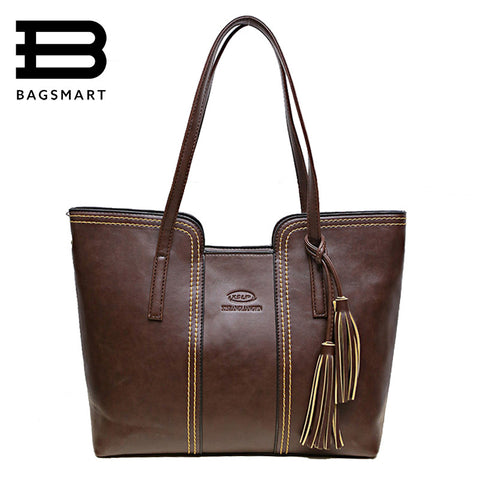 Bagsmart Appliques Solid Pu Handbags Women Dl1858