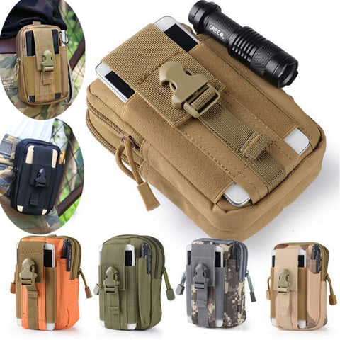 2016 Wholesale Tactical Molle Waist Bags Men's Outdoor Sport Casual Waist Pack Purse Mobile Phone Case for SAMSUNG Note 2 3 4