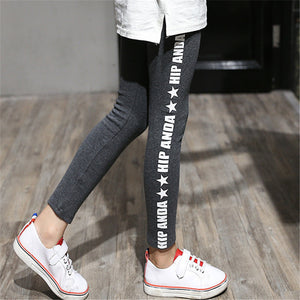 2016 Winter Style Girls Baby Thicken Cute Letter Printed Leggings Children Pants Toddler Kids Lovely Trousers Girls Pencil Pants