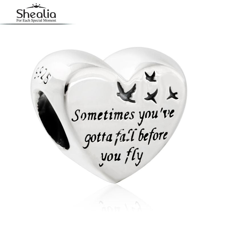 2016 Autumn Heart of Freedom Charms Beads Original 925 Sterling Silver Shealia Jewelry Fits Pandora Charm Bracelets For Women