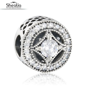 2016 Autumn Vintage Allure Openwork Charms Beads With CZ 925 Sterling Silver Jewelry Fits Pandora Bracelets & Bangles For Women