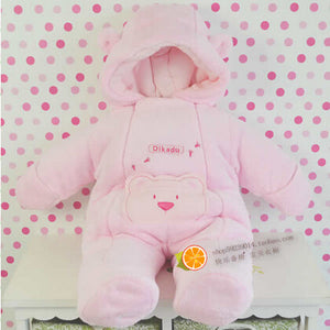 2016 fashion Style newborn winter jackets for baby girls clothing coral fleece coats winter jumpsuits outerwear brand kids boys
