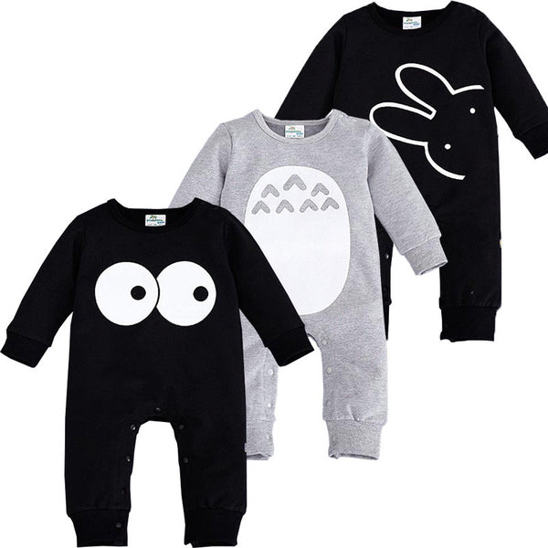 2016 Fashion Cute Animal Romper Cartoon Big Eyes Unisex Baby Clothes Rabbit Newborn Baby Jumpsuit Ropa Bebe Recien Nacido