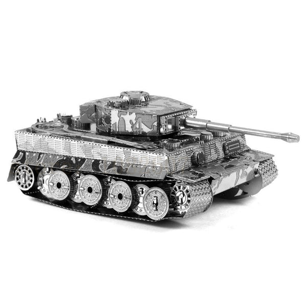 2016 Hot Sale Tiger Tank Miniature 3D Metal Model Puzzles 3D Solid Jigsaw Puzzle Toys for Children Free Shipping kids diy craft