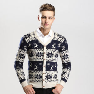 2016 Men's Christmas Cardigan Sweater Boys Slim Knitted Cardigans Sweater Jacket For Men Sweter Sueter Hombre Rebeca Pull Homme.