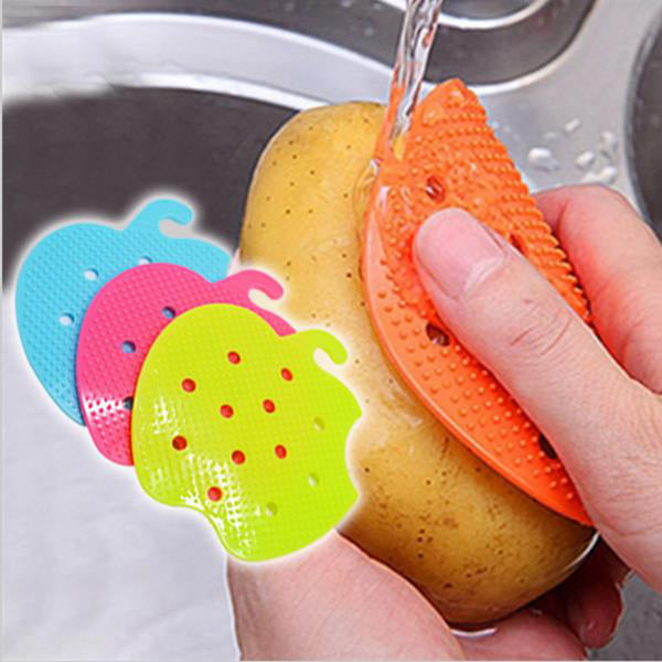2016 Multi-functional Fruit Vegetable Brush Cooking Tool Easy Cleaning Brush Kitchen Gadgets Cleaning Tools