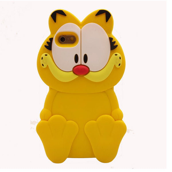 2016 New 3D Cartoon garfield ripndipp rock corna cat japan totoro soft silicone case For iphone4 4s 5 5s 5c 6 6s 6plus 6s plus