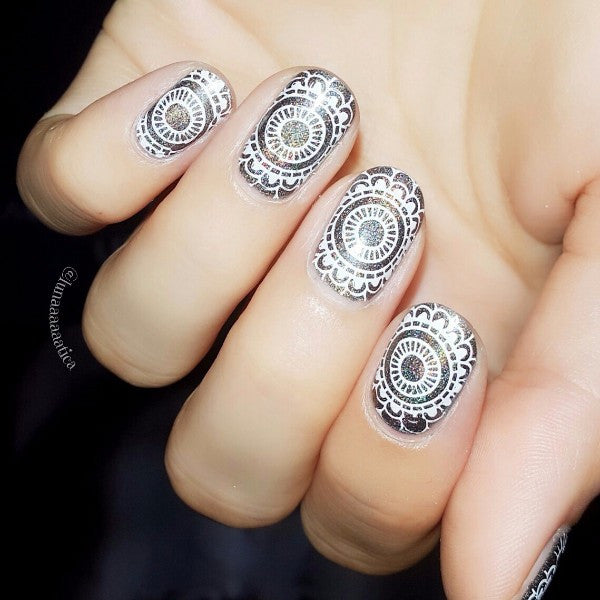 2016 New Arrival 1 Pc BORN PRETTY Nail Art Stamp Template Mandala Flower Design Pretty Image Plate BP-X15 6*6cm