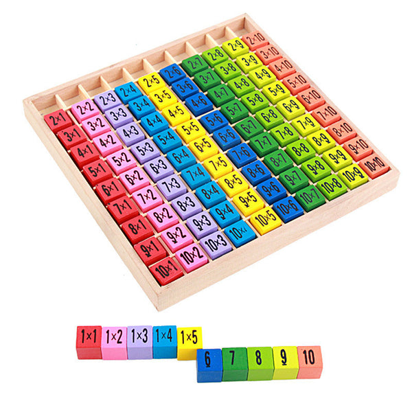 2016 New Arrival Educational Toys 99 Multiplication Table Math Toy 10*10 Figure Blocks Baby Toys Pupil Christmas Gift
