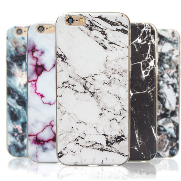 2016 New Arrival For iphone 5S 6 6s 6 plus Marble Pattern Printing Case stone Texture Soft TPU Fashion Cover Capa For iphone 6S