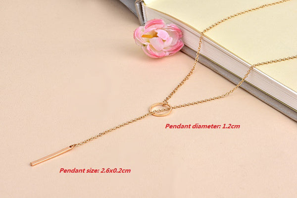2016 New Arrival Hot Min 1pc-Gold and Silver Dainty Necklaces Minimalist Necklace Circle necklace EY-N021