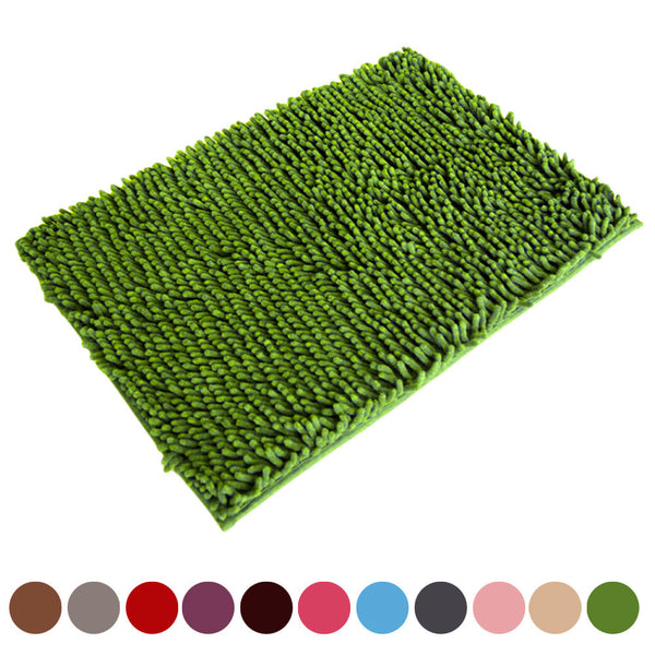 2016 New Arrival Soft Shaggy Non Slip Absorbent Bath Mat Bathroom Shower Rugs Carpet Free Fast Shipping